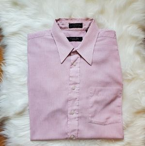 💖Christian Dior plaid pink dress shirt size 16